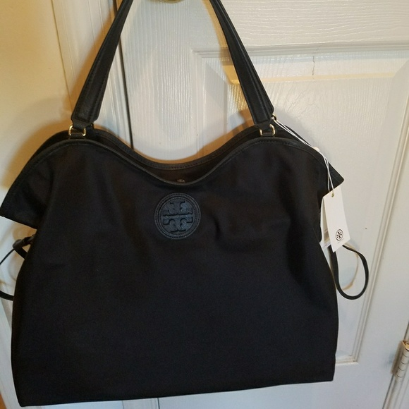 3a576af44770 Tory Burch Nylon Slouch Tote